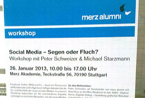 Social Media Workshop an der Merz Akademie Stuttgart